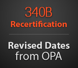 Revised 340B Recertification Dates